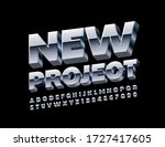 vector metal emblem new project ... | Shutterstock .eps vector #1727417605