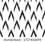 black modern ikat style pattern.... | Shutterstock .eps vector #1727432695