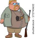 fat hunter   Shutterstock .eps vector #172743632