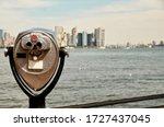 Manhattan Skyline And New York...
