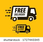 free delivery symbol. truck ... | Shutterstock .eps vector #1727443345