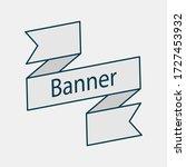 retro ribbon banner vector... | Shutterstock .eps vector #1727453932