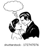 retro sweet couple  retro clip... | Shutterstock .eps vector #172747076