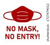 no face mask  no entry... | Shutterstock .eps vector #1727479012