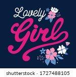 lovely girl. flower girl. girl... | Shutterstock .eps vector #1727488105