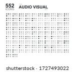 set of 552 audio and visual... | Shutterstock .eps vector #1727493022