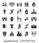charity icons. volunteer... | Shutterstock .eps vector #1727497792