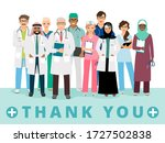 international doctors team.... | Shutterstock .eps vector #1727502838