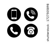 phone icon vector. mobile phone ... | Shutterstock .eps vector #1727505898