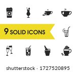 drink icons set with cheers ...