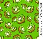 kiwi seamless pattern. half...   Shutterstock .eps vector #1727560528