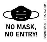 no face mask  no entry... | Shutterstock .eps vector #1727568685