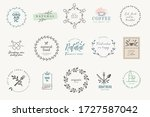 set of badges and stickers for...   Shutterstock .eps vector #1727587042