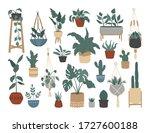 set of stylish vintage house... | Shutterstock .eps vector #1727600188