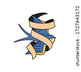 swallow tattoo template with... | Shutterstock .eps vector #1727643172