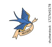 swallow tattoo with wording... | Shutterstock .eps vector #1727643178
