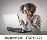 nerdy girl | Shutterstock . vector #172764326
