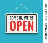 open sign business vector shop... | Shutterstock .eps vector #1727656705