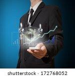 businessman analyze graph and... | Shutterstock . vector #172768052