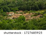 Povoa Dão village, completely rebuilt in the middle of the green forest , Viseu , Portugal