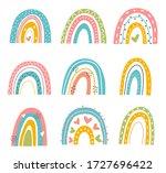 abstract vector rainbow set.... | Shutterstock .eps vector #1727696422