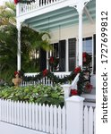 Key West Style Porch Decorated...