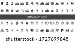 restaurant icons that can be... | Shutterstock .eps vector #1727699845