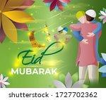 vector illustration of greeting ... | Shutterstock .eps vector #1727702362