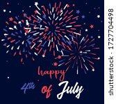 happy 4th of july vector... | Shutterstock .eps vector #1727704498