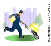 delivery service. vector flat... | Shutterstock .eps vector #1727719528