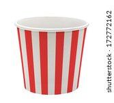 empty pop corn bucket on white... | Shutterstock . vector #172772162