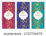 colorful packaging design of... | Shutterstock .eps vector #1727726575