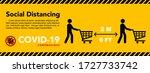 social distancing banner. keep... | Shutterstock .eps vector #1727733742