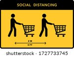 social distancing banner. keep... | Shutterstock .eps vector #1727733745