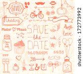 perfect save the date design... | Shutterstock .eps vector #172773992