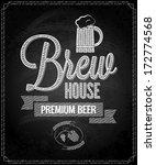 beer menu design house... | Shutterstock . vector #172774568