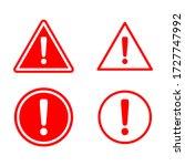 hazard warning symbol vector... | Shutterstock .eps vector #1727747992
