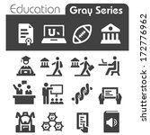 education icons | Shutterstock .eps vector #172776962