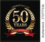 anniversary golden laurel wreath | Shutterstock .eps vector #172777136