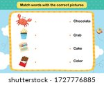 match words with the correct... | Shutterstock .eps vector #1727776885