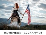 Girl In Historical Dress Of...