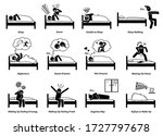 people sleeping  dreaming  and...   Shutterstock .eps vector #1727797678