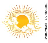 vintage hand drawn sun with... | Shutterstock .eps vector #1727803888