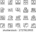 set of online meeting icons ... | Shutterstock .eps vector #1727813905