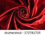 Stock photo beautiful red satin sheet 172781735