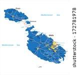 malta map | Shutterstock .eps vector #172781978