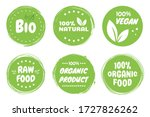 best vector set bio  vegan ... | Shutterstock .eps vector #1727826262