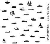 seamless background of ships... | Shutterstock .eps vector #1727834572