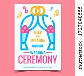 wedding ceremony creative... | Shutterstock .eps vector #1727848555