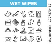 wet wipes disinfectant... | Shutterstock .eps vector #1727870482